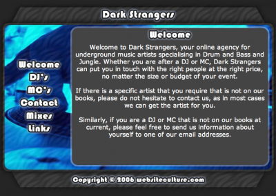 Dark Strangers - Website