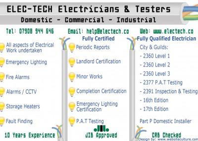 Elec-Tech - Flyer