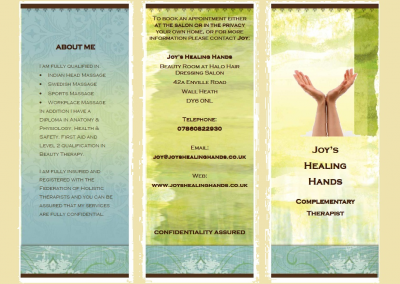 Joy's Healing Hands - Brochure 01