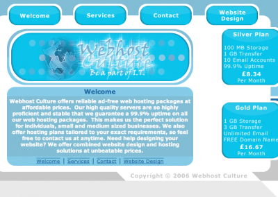 Webhost Culture - Old Website